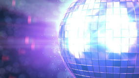 Beautiful Disco Ball Spinning seamless with flares. Close-up. HD 1080. Looped 3d animation. HD 1080