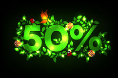 50% discount design Stock Images