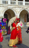 Beautiful disguised women Venice Stock Photos