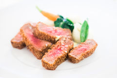 Beautiful dish with cooked meat Stock Photo