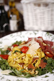 Beautiful dish of fresh taliagtelle Royalty Free Stock Photography