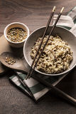 Beautiful dish of quinoa rice japanese style Stock Images