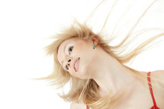 Beautiful with disheveled hair Royalty Free Stock Images