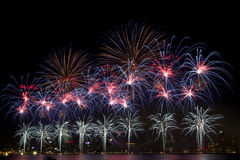 Fireworks. Beautiful display of fireworks on Australia day Stock Photo