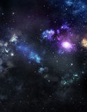 Beautiful distant galaxy Stock Photos