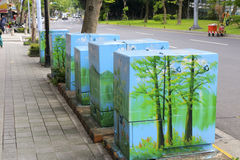 Beautiful distribution box. By the road, taipei city, taiwan royalty free stock images