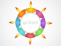 Beautiful diwali background. Beautiful happy diwali vector greeting stock illustration
