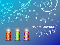 Beautiful diwali background Stock Image