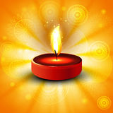 Beautiful diwali bright colorful diya of indian festival. Illustration Royalty Free Stock Image