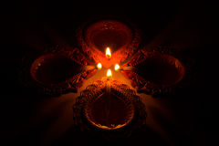 Beautiful Diwali Candels. In traditional festival in india royalty free stock images