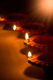 Beautiful Diwali Candels. In traditional festival in india stock photography