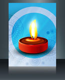 Beautiful diwali card brochure  Royalty Free Stock Photos