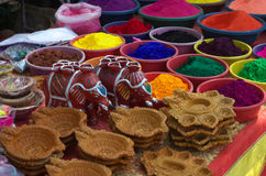 Beautiful Diwali celebration colors-VI Stock Photography