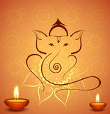 Beautiful diwali celebration Hindu Lord Ganesha festival background Stock Photos