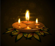 Beautiful diwali colorful rangoli Royalty Free Stock Photo