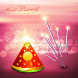Beautiful diwali cracker colorful festival Royalty Free Stock Photos