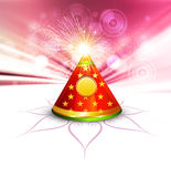 Beautiful diwali cracker colorful illustration. Background Royalty Free Stock Photos