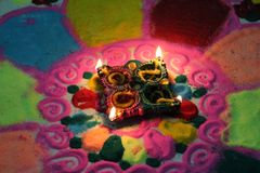 Beautiful Diwali decoration pic. This is about Celebration of Diwali festival in India. The Festival of light and sound Royalty Free Stock Photo