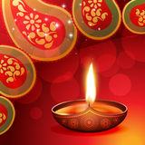 Beautiful diwali diya. On artistic background