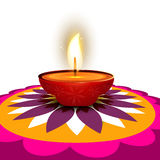 Beautiful diwali diya Art rangoli  Stock Image