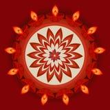 Beautiful diwali diya card Stock Photo