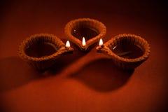Beautiful diwali diya or oil lamp or lighting, selective focus Royalty Free Stock Photo