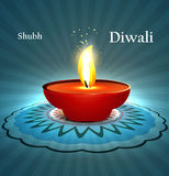 Beautiful diwali diya rangoli with space for your  Stock Photos