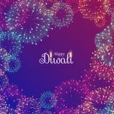 Beautiful diwali festival fireworks. Vector Royalty Free Stock Image