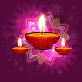 Beautiful  diwali greeting card Stock Photography