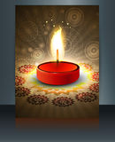 Beautiful diwali greeting card brochure temp Royalty Free Stock Photography