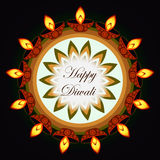 Beautiful diwali greeting card Stock Photos