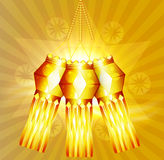 Beautiful diwali hanging lamp festival colorful background Royalty Free Stock Images