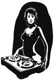 Beautiful DJ girl Stock Images
