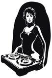 Beautiful DJ girl. Hand-drawn graphics - DJ Girl Stock Images
