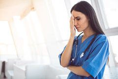 Beautiful doctor failed Royalty Free Stock Image