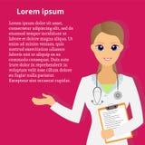 Beautiful doctor. Female doctor. Vector illustration royalty free illustration