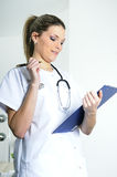 Beautiful doctor in a hospital Royalty Free Stock Photo
