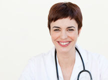 Beautiful Doctor smiling at the camera Stock Images