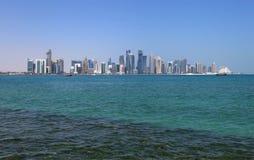 Beautiful Doha skyline Royalty Free Stock Photo