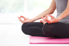 beautiful doing woman yoga young Arkivbilder