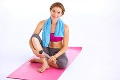 beautiful doing woman yoga young Royaltyfri Bild