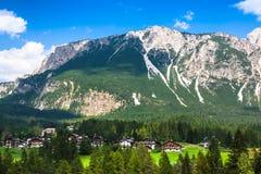 Beautiful Dolomite mountains near Cortina D'Ampezzo ,Pomagagnon Royalty Free Stock Image