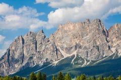 Beautiful Dolomite mountains near Cortina D'Ampezzo ,Pomagagnon Royalty Free Stock Images