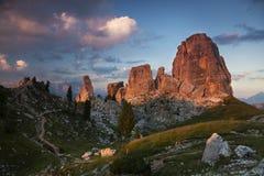Beautiful Dolomites landscape Stock Images
