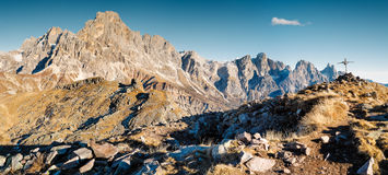 Beautiful Dolomites view stock images