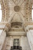 Beautiful dome of Arco da Rua Augusta in Lisbon. Portugal Royalty Free Stock Photos