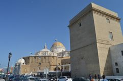Beautiful Dome Of The Cathedral Of Cadiz. royalty free stock photos