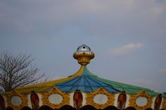 Beautiful dome of a childrens ride in a children park. Beautiful dome childrens ride park royalty free stock photo