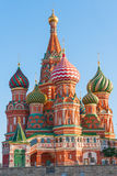 Beautiful dome of St. Basil's Cathedral on Red Square Stock Photo