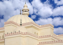Beautiful domes and minaret of Al Fateh Mosque Bah Royalty Free Stock Photo